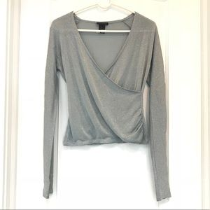 Shimmery Long Sleeve Top by The Limited size M